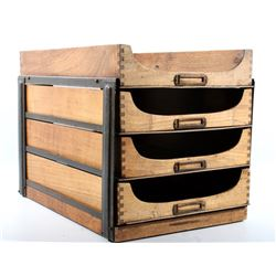 Automatic File & Index Co Oak Stacking File Tray