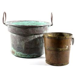 Set of Late 19th Century Copper Trade Buckets