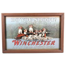 Winchester 3D Bird Dog Puppies Advertising Sign