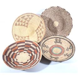 Collection of Hand Woven African Tribal Baskets