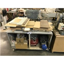 MOBILE WOODWORKING CART AND CONTENTS