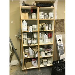 2 SHELVES OF ASSORTED PAINT CONTENTS