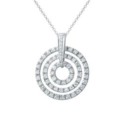 1.36 CTW Diamond Necklace 18K White Gold - REF-135F9N