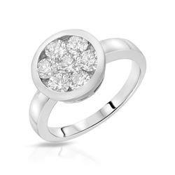 0.25 CTW Diamond Ring 14K White Gold - REF-31W2H