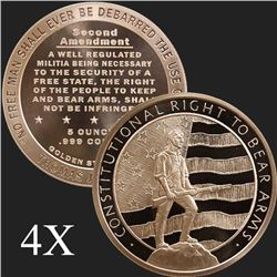 5 oz Second Amendment .999 Fine Copper Bullion Round