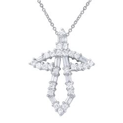 1.14 CTW Diamond Necklace 18K White Gold - REF-115H8M