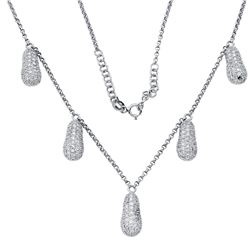 2.24 CTW Diamond Necklace 18K White Gold - REF-137W9H