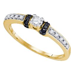 0.26 CTW Diamond Solitaire Bridal Engagement Ring 10KT Yellow Gold - REF-22X4Y