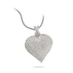 0.50 CTW Diamond Necklace 14K White Gold - REF-68K3W