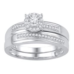 0.25 CTW Diamond Bridal Wedding Engagement Ring 10KT White Gold - REF-32H9M