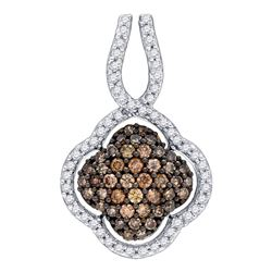 0.47 CTW Brown Color Diamond Pendant 10KT Yellow Gold - REF-25H4M