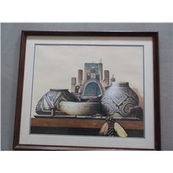 """Signed Ken Fleisch Print-""""Time Travelers""""- 150/1000- Letter of Authenticity- Frame 26""""H X 30""""W"""