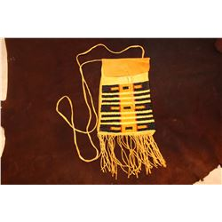 Beaded Sioux Pattern Fringed Possibles Bag- Made By Montana Artist Jim Thomason