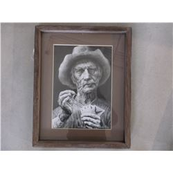 """Signed Charles Ewing Print- 1979- 871/1000- """"The Bluff""""- Frame 19""""H X 15""""W"""