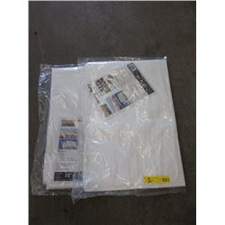 2 New Western Rugged 12 Foot x 16 Foot White Tarps