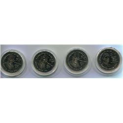 4 COMMONWEALTH TOKENS (1978)