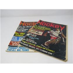 HOCKEY SPORTS EXTRA MAGAZINES, (2 FROM 1972)