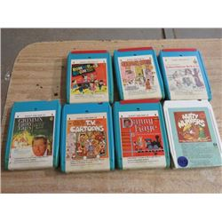 7 - 8 TRACK TAPES, (ROMPER ROOM, SESAME STREET, ETC. )