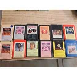 12 - 8 TRACK TAPES,( JOHN DENVER, KRIS KRISTOFFERSON, ETC)
