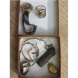 LOT OF WATCH, RING WATCH, BEADS, ETC