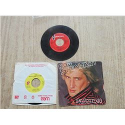 3 - 45 RECORDS, (2 ROD STEWART, ROLLING STONES)