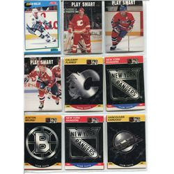 HOCKEY CARDS 3 SHEETS, (PRO SET), *TEAM FACTS*