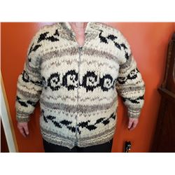 COWICHAN SWEATER (1975 MED. SIZE) *PURCHASED IN COWICHAN, BC*