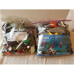 2 BAGS MIXED LEGOS