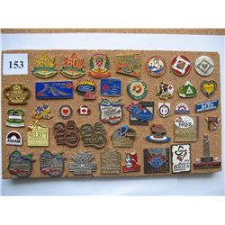 LAPEL PINS - LOT OF 40 DIFFERENT - (CURLING) *SOME BRIER & SCOTT TOURNAMENT OF HEARTS*