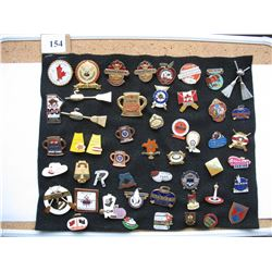LAPEL PINS - LOT OF 50 DIFFERENT (CURLING) *VARIOUS EVENTS*