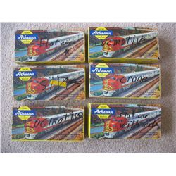 ATHERN TRAIN SET *WITH TRACKS* - (SOME CARS NOT ASSEMBLED)