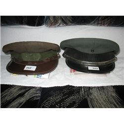 LOT OF 4 VINTAGE CAPS - *SOME POSSIBLE MILITARY*