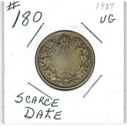 1927 CANADIAN QUARTER *SCARCE DATE*