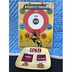 COLT CIGAR (COUNTER TIP TRAY) & ROUND-UP CORRAL *LITHO TARGET (TIN)*