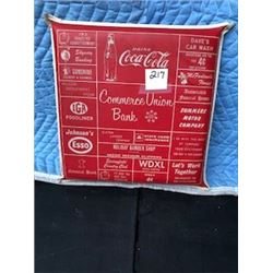 COCA-COLA BALL PARK SEAT CUSHION (1960s,*W/ASSORTED PERIOD ADVERSTISING*