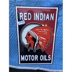 """SIGN (RED INDIAN) *15.5"""" X 24""""* *REPRODUCTION*"""