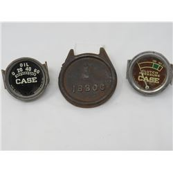 2 GAUGES  CLUTCH & OIL, 1 CAST LID (1830C)