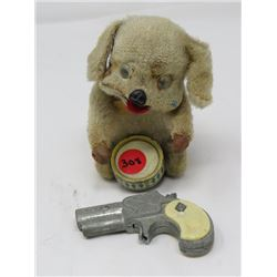 WIND-UP DOG & DRUM,  DERRINGER GUN TOYS