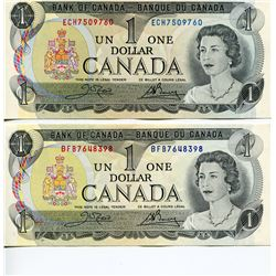 4 CNDN BANK NOTES, (2 - $1, $5 & *UNCIRCULATED* $10)