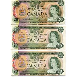 3 CNDN BANK NOTES, ($20.00) *2 CONSECUTIVE SERIAL #s 52344941501 & 502*