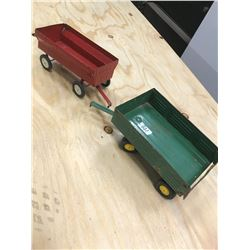 2 TOY WAGONS, (ERTLE)