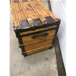 STEAMER TRUNK, 1920s, *ALL REFINISHED*