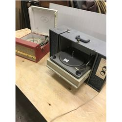 2 RECORD PLAYERS (MARCONI & CORINODO SOLID STATE)