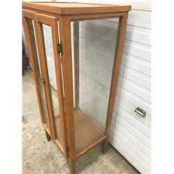"4 SIDED GLASS CHINA CABINET *20""X17""X50*"