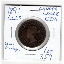 1891 LARGE CENT (LLLD)