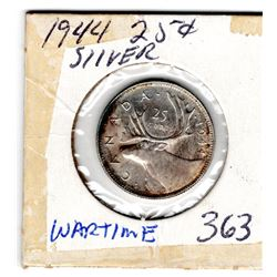 1944 25 CENTS *WARTIME* COIN