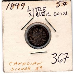 1899 5 CENT *SILVER* NICKLE