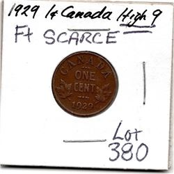 1929 ONE CENT (SCARCE) *HIGH 9 VARIETY*