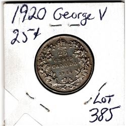 1920 25 CENTS *SILVER*