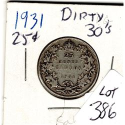 1931 25 CENTS *SILVER*